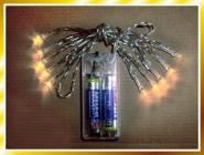 LED Lichterkette Batterie 10 LEDs warmes Kerzenlicht