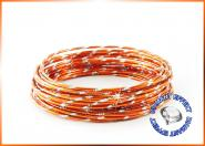 Aludraht Diamant Look 2mm x 5m  ORANGE