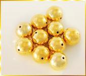 Perlen GOLD METALLIC 30mm   6 Stück