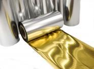 Thermotransferfolie Super Gold metallic 100 mm x 100 m