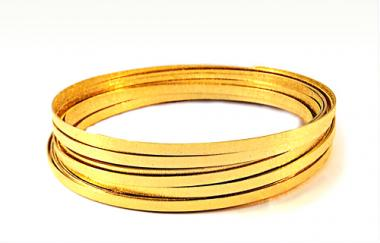 Aludraht FLACH GEPRÄGT 5mm x 8m  GOLD