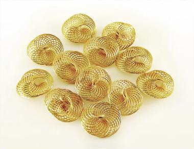 Drahträder GOLD 25mm 12 Stück
