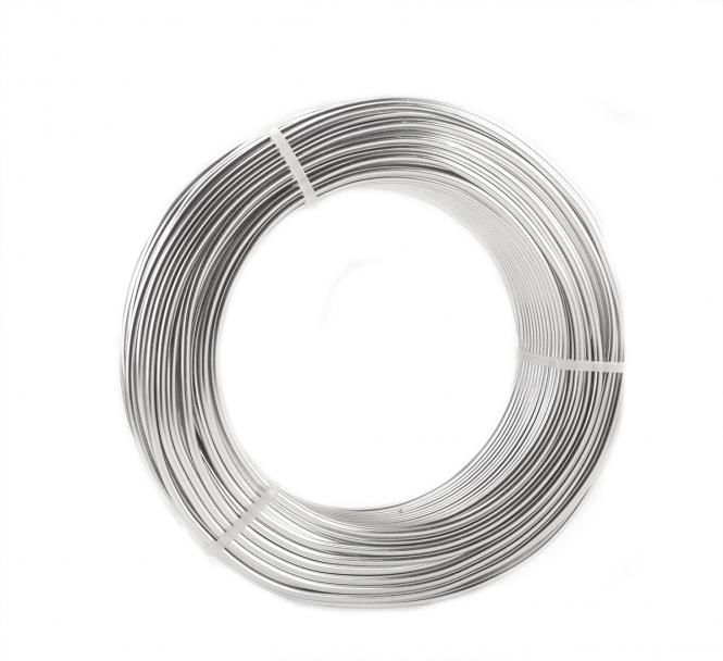 Aluminiumdraht Aludraht 3mm x 50m Silber eloxiert 1000g Sparpack