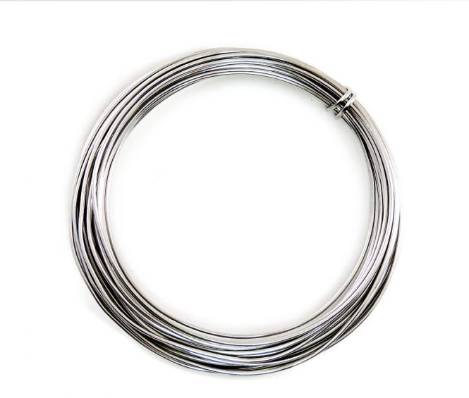 Aluminium - Draht  2mm x 12m SILBER