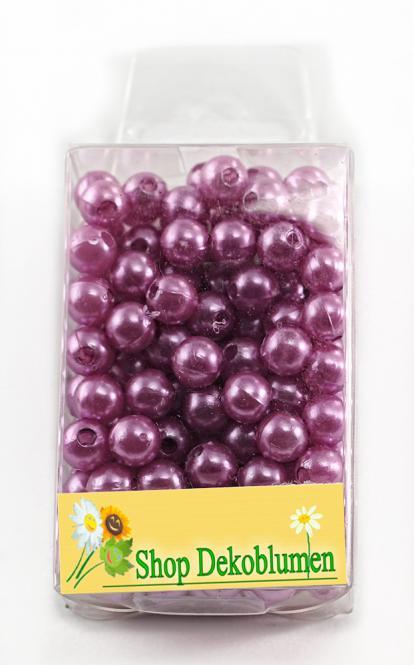 Perlen ROSA (bright lilac) 8mm 144 Stück