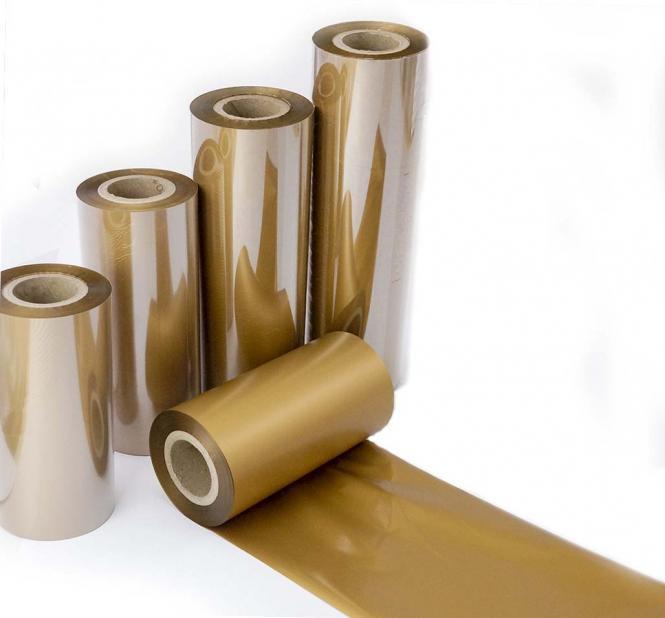 Thermotransfer Folie Gold matt 100 mm x 100 m