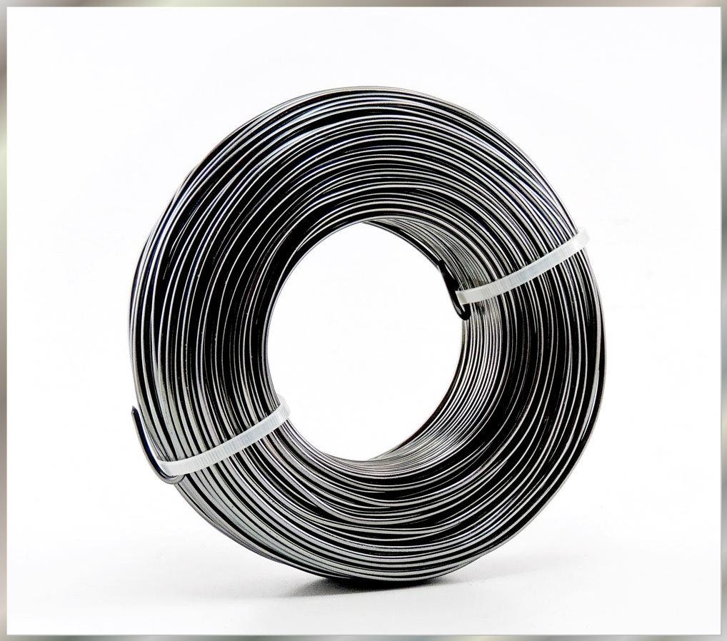 Shop Dekoblumen   Aluminium - Draht 2mm x 60m ALTSILBER ANTHRAZIT ...