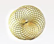 Drahträder GOLD 45mm 6 Stück