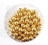 Perlen GOLD METALLIC 14mm 35 Stück