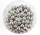 Perlen SILBER METALLIC  14mm 35 Stück