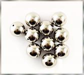 Perlen SILBER METALLIC 30mm  6 Stück