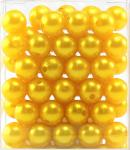 Perlen GELB 14mm 72 Stück