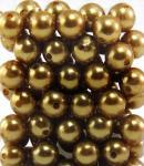 Perlen GOLD 14mm 72 Stück
