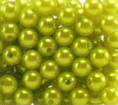 Perlen HELLGRÜN 10mm 120 Stück